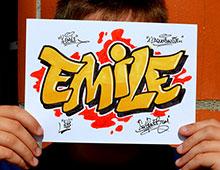 Animation graffiti prénoms