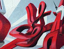 Déco 3d graffiti