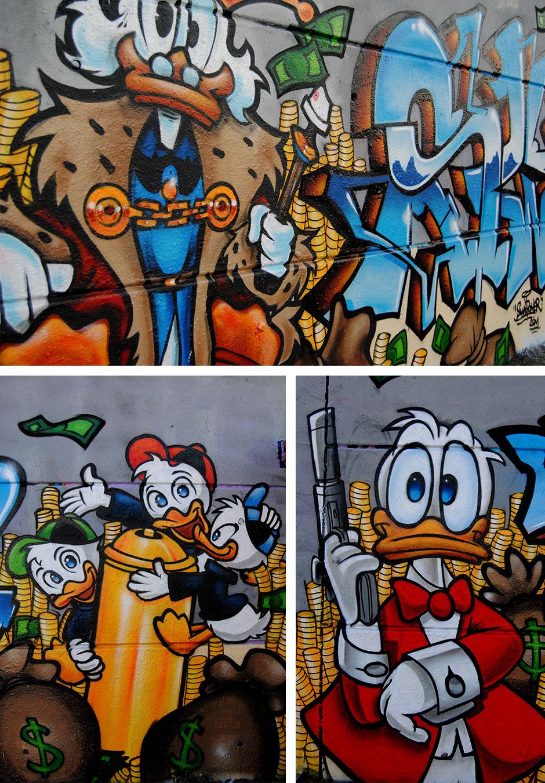 La bande à Picsou graffiti deco-graffiti-toulouse-swip-swiponer-picsou-donal-riri-fifi-loulou