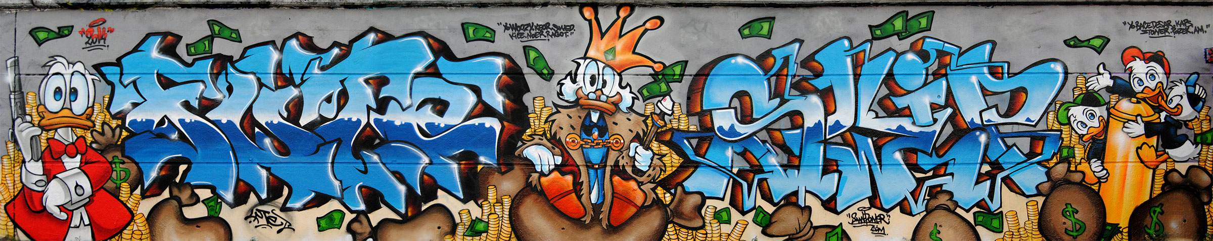 La bande a picsou graffiti fresquedecoration graffiti toulouse swip swiponer picsou donald fresque