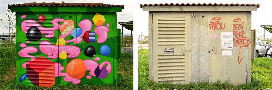 graffiti-donut-labège-bonbon-cube-dragibusswip-swiponer-deco-graff-toulouse-wxp-animation-avant-apres