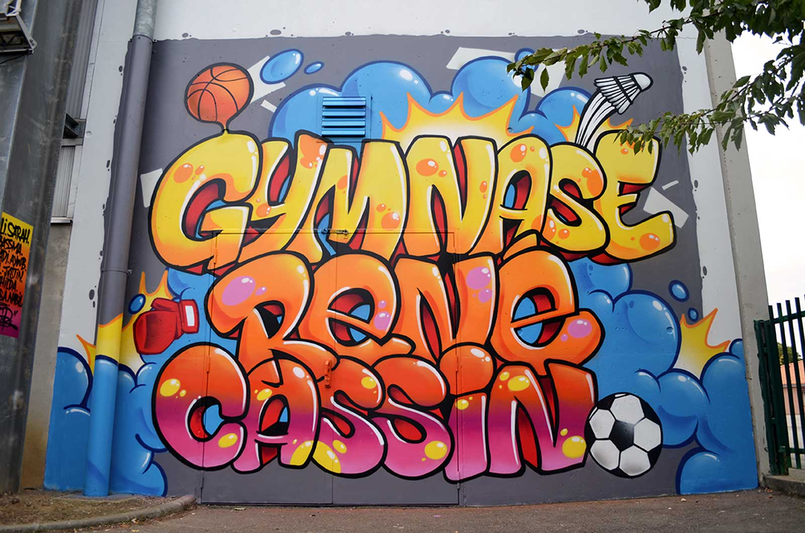 graffit decoration gymnase rene cassin blagnac