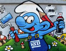 Graffiti schtroumpf