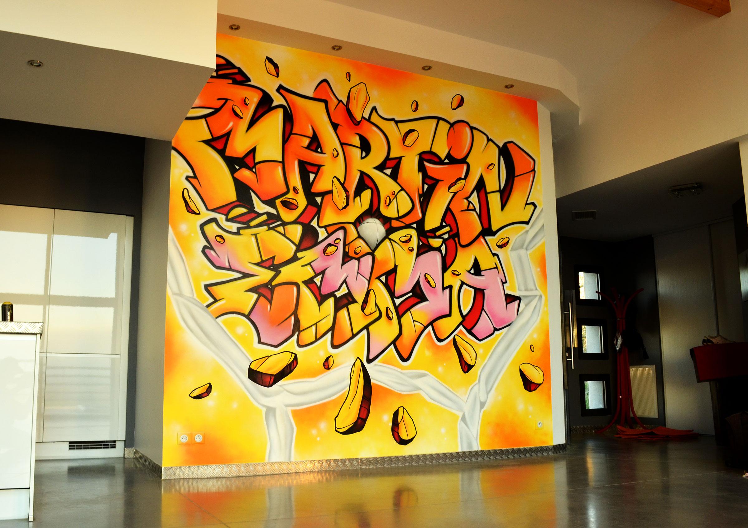 Decoration graffiti salon
