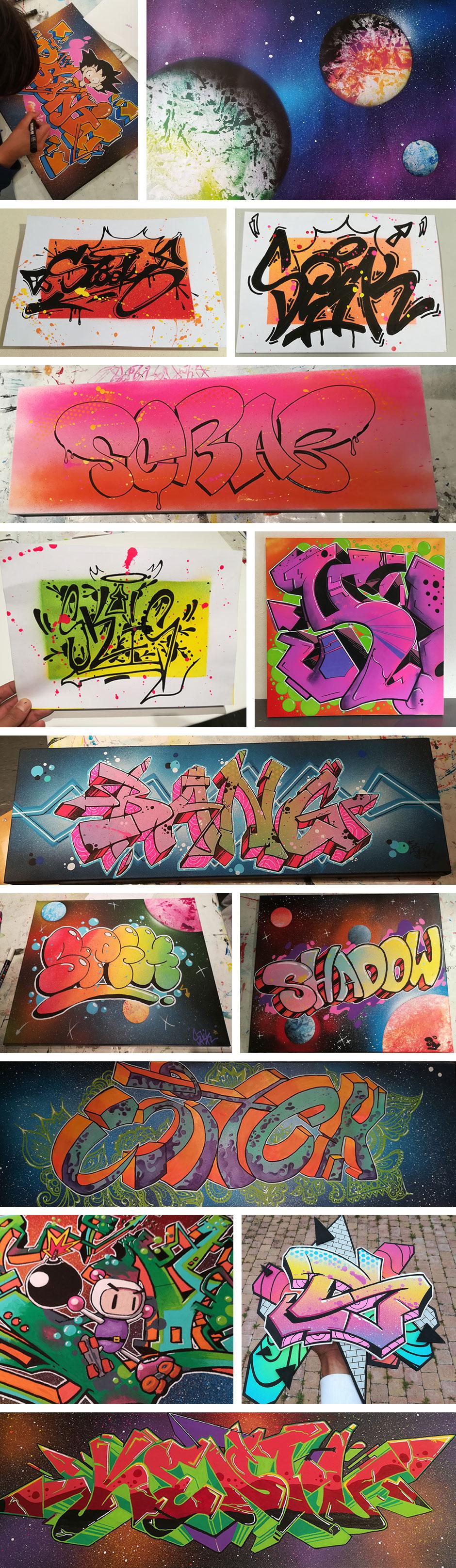 Cours de graffiti