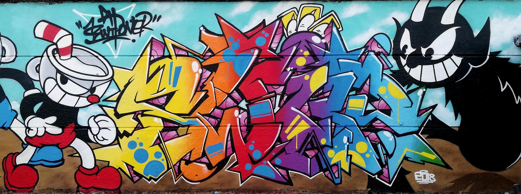Graffiti Cuphead swiponer