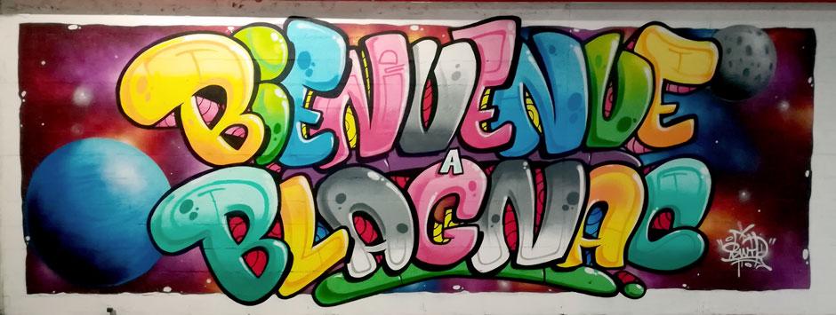 decoration graffiti blagnac leclerc