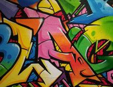 Decoration graffiti Leclerc Blagnac