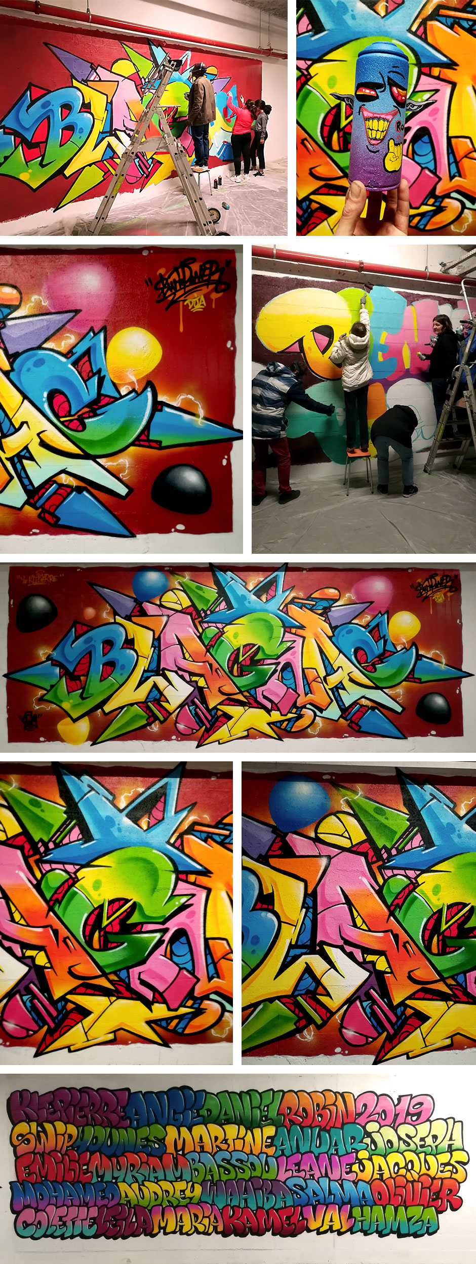 decoration graffiti leclerc blagnac swiponer