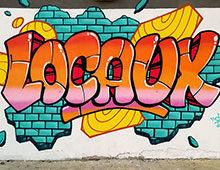 Decoration graffiti terrain de foot