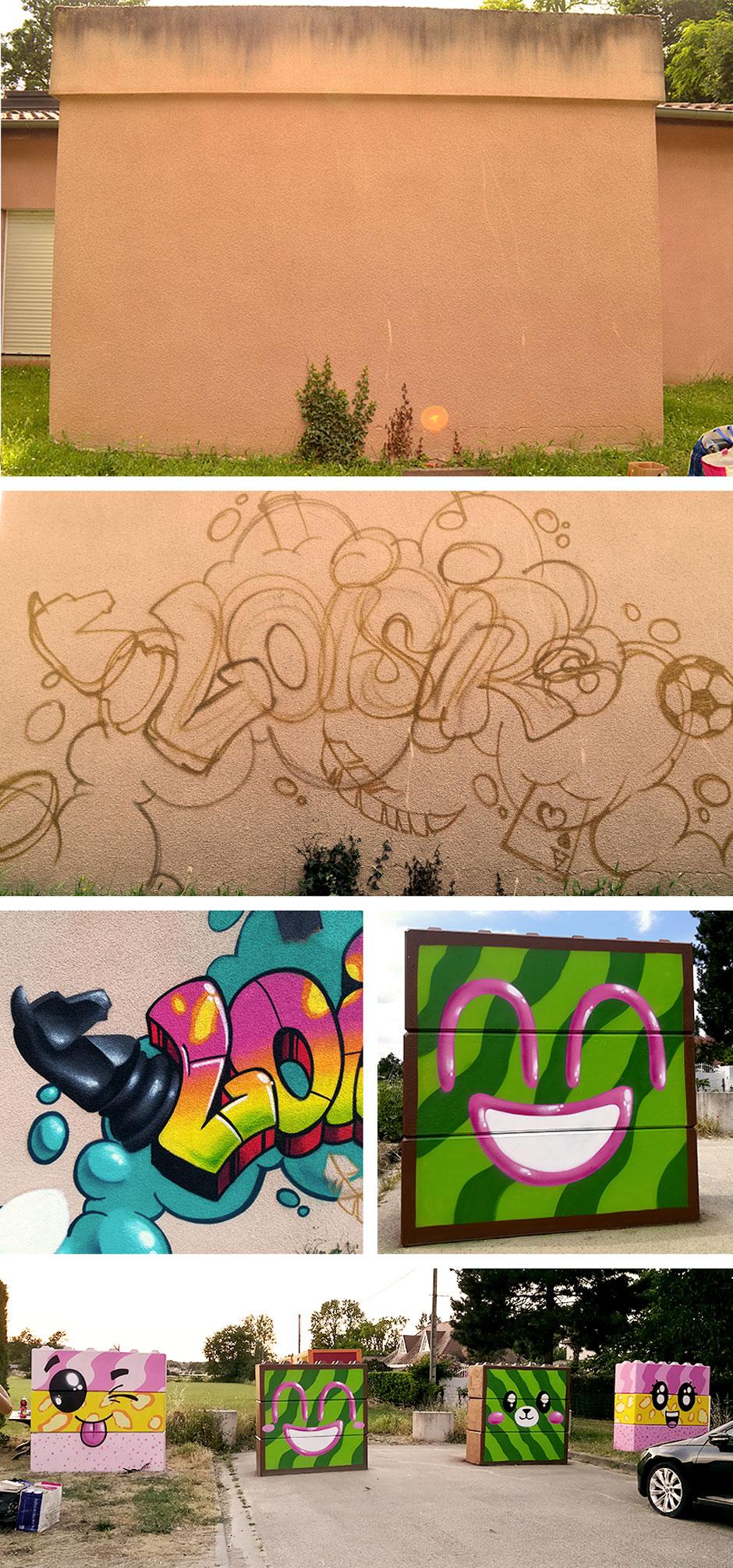 Decoration graffiti Pechabou