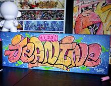 Graffiti sur toile