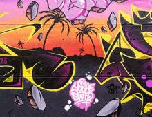 Graffiti sunset
