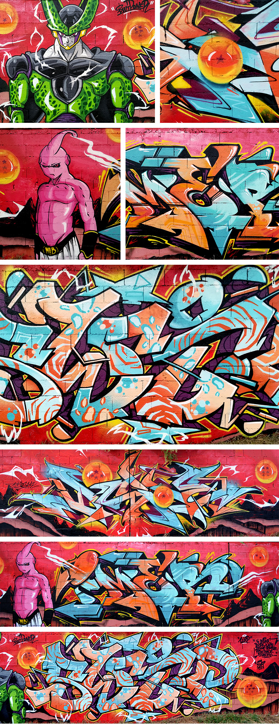 Fresque Graffiti Dragon ball z