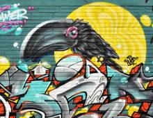 Graffiti oiseau